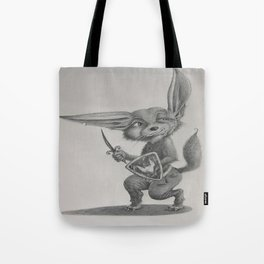 Dave the Warrior Fennec Fox Tote Bag