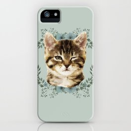 Cat Wink iPhone Case