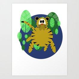 Tiger Goes Round Art Print