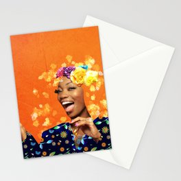 Just a random girl Stationery Cards