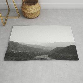 Black and white Atlas Mountains of Ourika Morocco Rug