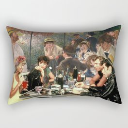Renoir's Luncheon of the Boating Party & Grease Rectangular Pillow