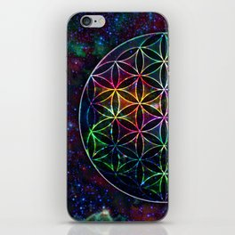 Flower of Life in the Universe - Universe in the Flower of Life iPhone Skin