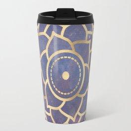 Mandala Chakra Copper and Purple Crown Chakra Travel Mug