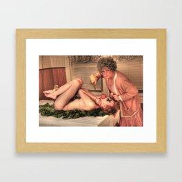 Pig Roast Framed Art Print