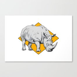 Rhino Yellow Canvas Print