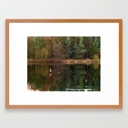 Fewston Angler Framed Art Print