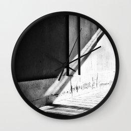 Alleyway Light Wall Clock