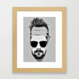 Triple Beard Framed Art Print