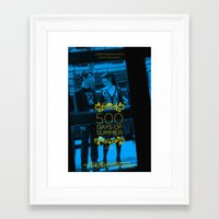 500 days of summer Framed Art Prints featuring 500 days of Summer by Lucas Preti