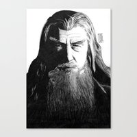gandalf Canvas Prints featuring Gandalf by Mike