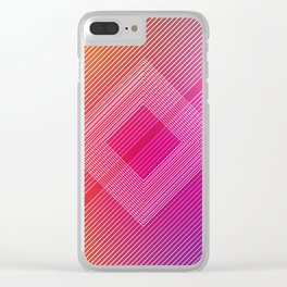 Colorful quare Clear iPhone Case