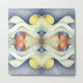 Abstract Air – Blue Metal Print