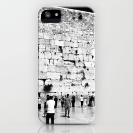 The Western Wall in the Old City, Jerusalem, Israel iPhone Case