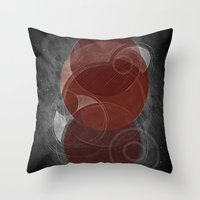 mars Throw Pillows featuring Mars by Nick Volkert
