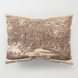 Map Of Plymouth 1882 Pillow Sham