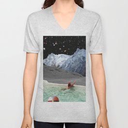 POINTING OUT GALAXIES Unisex V-Neck