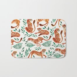 Cheetah Collection – Orange & Green Palette Bath Mat