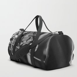 American Lady Butterfly in Black and White Duffle Bag
