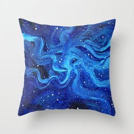 Galaxy Painting Acrylic Galaxy Art Throw Pillow