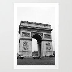 Arc de Triomphe Noir Art Print