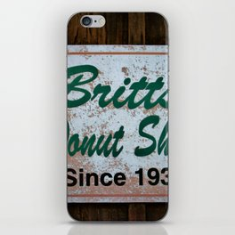 Britt's Donut Shop Sign 1 iPhone Skin