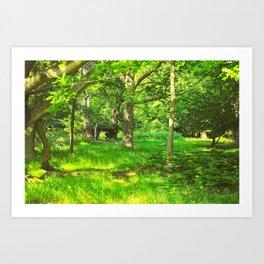Green and Beautiful Art Print