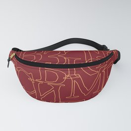 Antique Looking Cyrillic Alphabet Fanny Pack