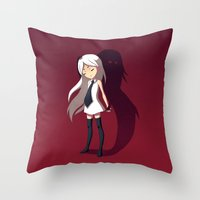 shadow Throw Pillows featuring Shadow by Freeminds