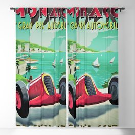 Vintage Monaco 7th Grand Prix Automobile Race 22 April 1935 Advertisement Poster Blackout Curtain