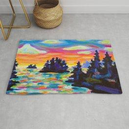 Landscape With Saucers Rug