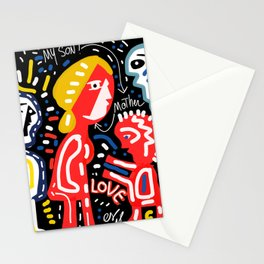 Mother and Son = LOVE Street Art Graffiti Art Stationery Cards