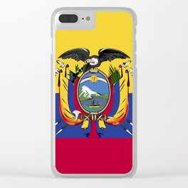 Ecuador flag emblem Clear iPhone Case