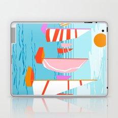 Quepasa - memphis throwback retro minimal modern neon boating yacht club sailing summer sport Laptop & iPad Skin
