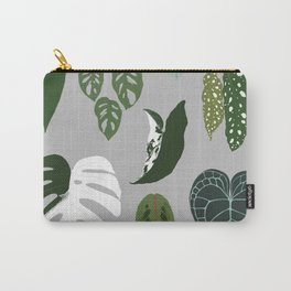 Leaves composition 2 gray background Carry-All Pouch