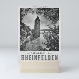 retro poster Les Bains salins de Rheinfelden Mini Art Print