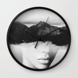 silence of the mountain Wall Clock