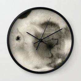 Abstract Black Ink Wall Clock