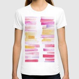 8 | 181101 Watercolour Palette Abstract Art | Lines | Stripes | T-shirt