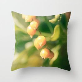 Yellow Bursts Throw Pillow
