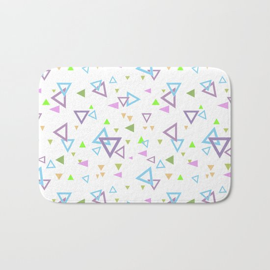 Abstract triangles pattern with triangular Bath Mat