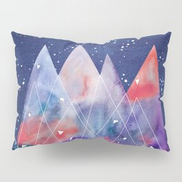 Mountains by night Pillow Sham