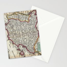 Vintage Map of Spain and Portugal (1747) Stationery Cards