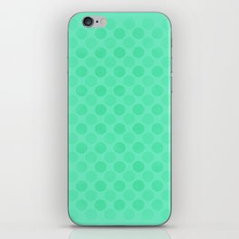 Faded green circles pattern iPhone Skin