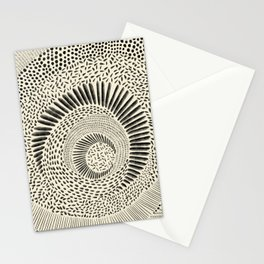 Hand Drawn Patterned Abstract Stationery Cards