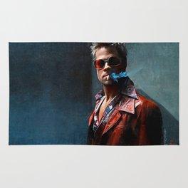 Tyler Durden Smoking A Cigarette Rug