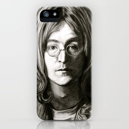 John in Black and White iPhone Case
