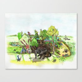 Witchington Gardens Canvas Print