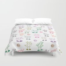Cacti under the moon Duvet Cover