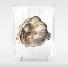 Garlic Shower Curtain
